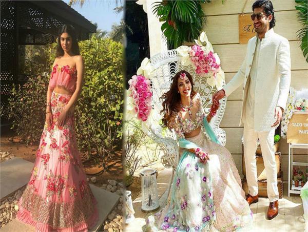 sridevi and daughter khushi kapoor at mohit marwah mehendi ceremony
