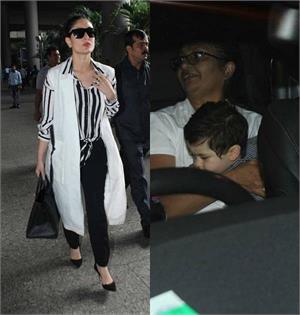 दिवाली सैलिब्रेट करने बेटे तैमूर के साथ मुंबई वापिस लौटीं मम्मी करीना