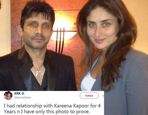 krk alleges to be in a four year relationship with kareena