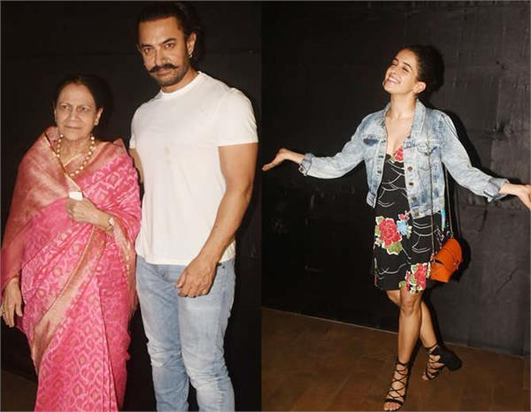 aamir with mother at secret superstar