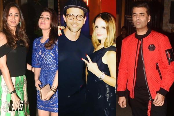 hrithik roshan joins sussanne khan birthday party