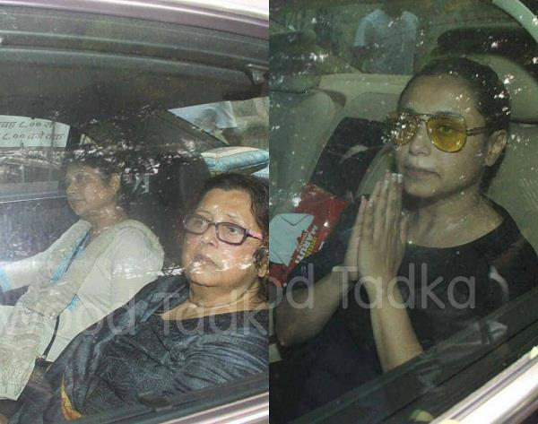 bollywood celebs at ram mukherjee last rites