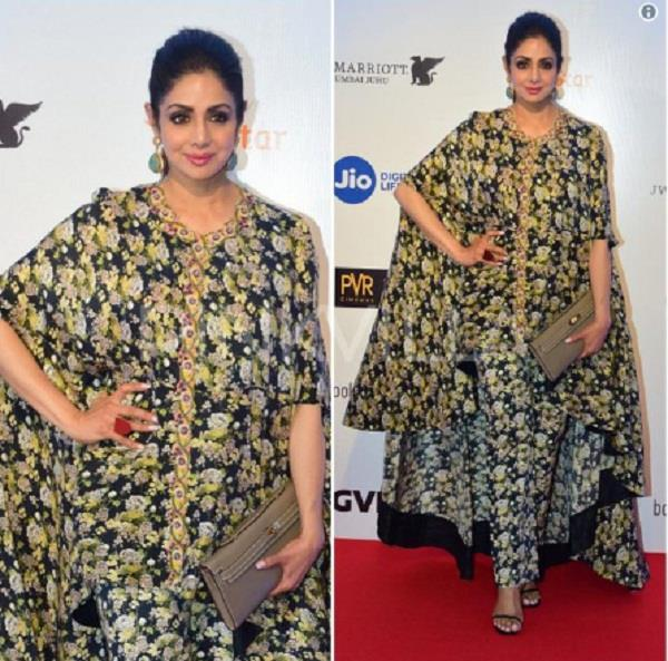shridevi weird look at mami awards
