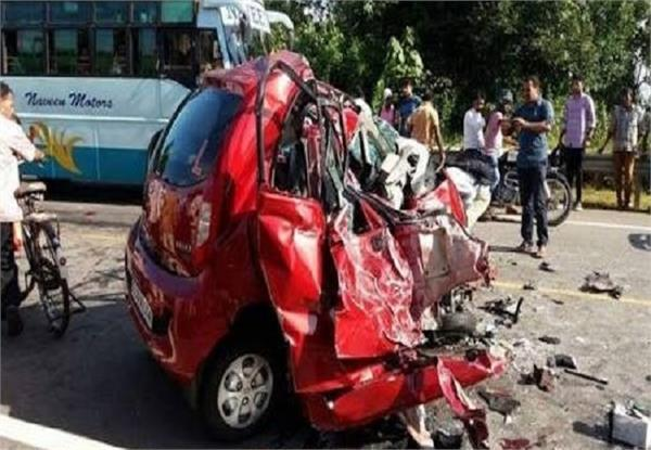 two killed including one woman in road accident  one injured