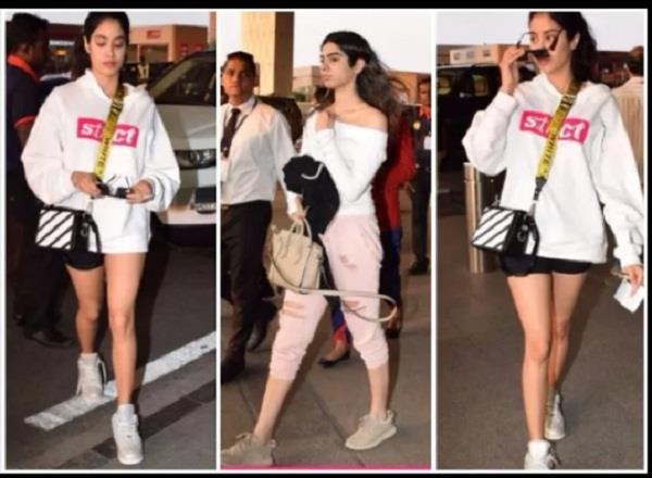 sridevi daughter spotted at airport