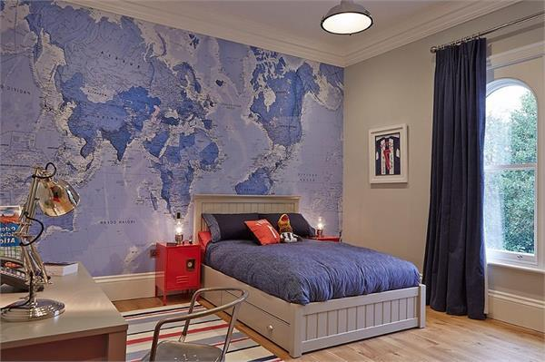 decorate the teenager room with these different wallpapers