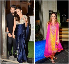 टीवी एक्ट्रैस की शादी पर शाहिद-मीरा पर रहीं सबकी निगाहें, अकेली पहुंची सुजैन