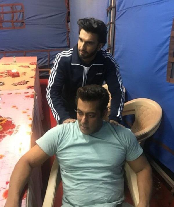 ranveer singh salman khan massage race 3