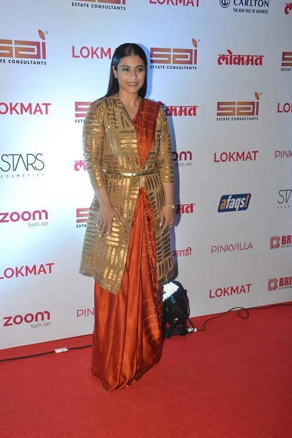 kajol at lokmat most stylish awards 2017