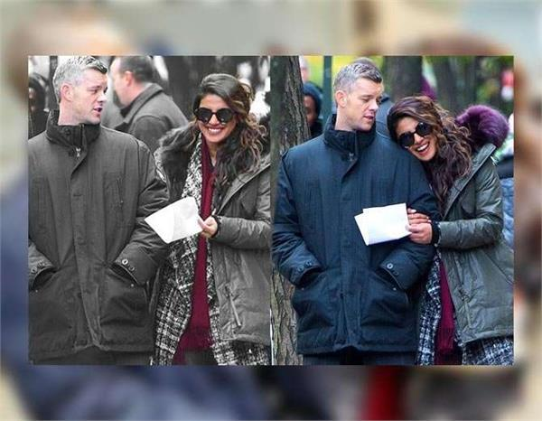 priyanka chopra with russell tovey