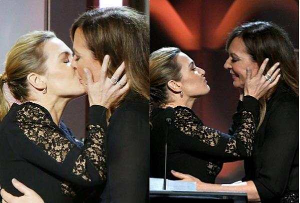 when two actresses liplock