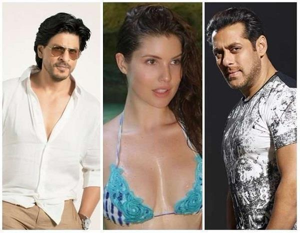 amanda cerny is knocking at shahrukh and salman