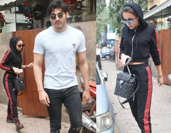 aahan shetty spotted with girlfriend tania shroff