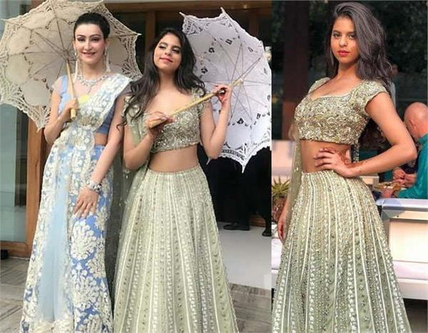 suhana khan spotted at relatives wedding