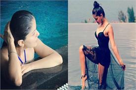 पूल में बिकिनी पहन अपनी हॉट तस्वीरों से आग लगा रही है 'किन्नर बहू'