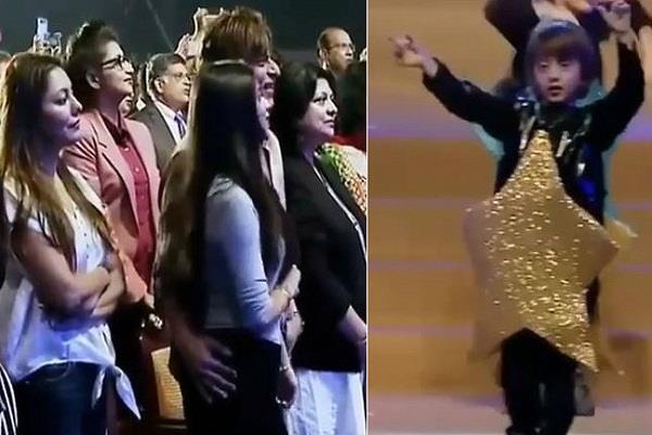 abram khan dance on father shahrukh movie song