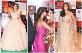 Zee Cine Awards: हॉट क्लीवेज दिखाती दिखी राधिका, गोल्डन ड्रैस में कैटरीना का चला जादू