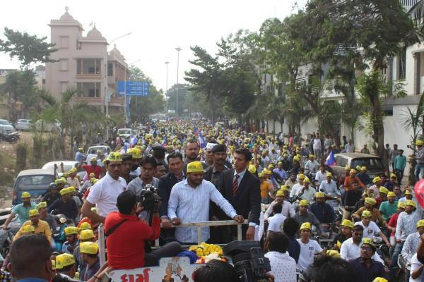 hardik did road shows in bjp stronghold