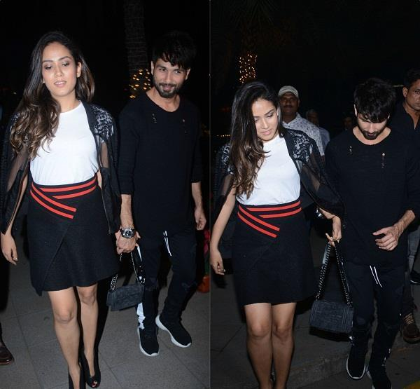 shahid kapoor mira rajput photos dinner date