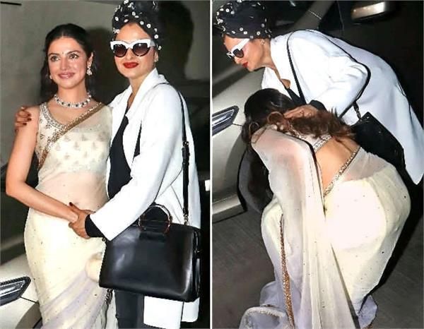 divya khosla and rekha spotted at screening