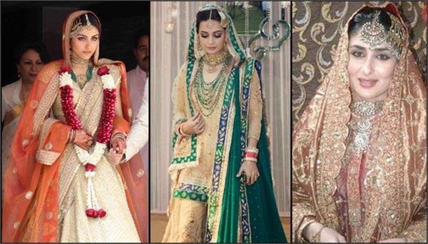 these bollywood heroines wearing pastel outfits at their wedding