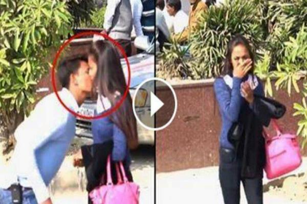 viral kissing prank