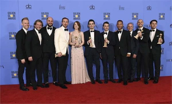 golden globes la la land breaks record for most wins by a film