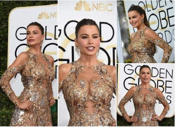 hollywood actress sofia vergara at the 74th annual golden globe awards