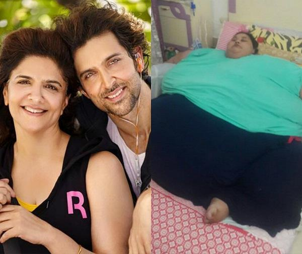 hrithik mother donates 10 lac for eman ahmed