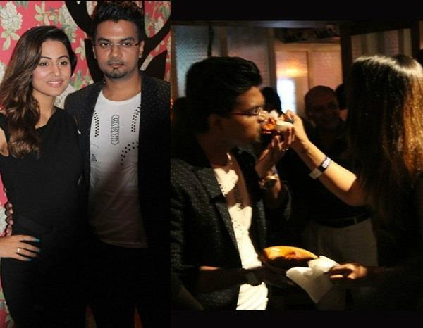 hina khan with bf rocky spotted at party