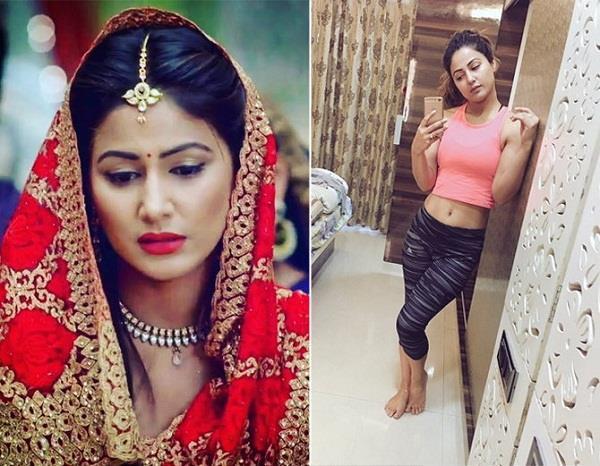 hina khan share workout pics