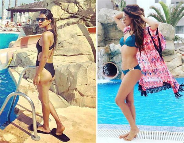 khatron ke khiladi contestant nia sharma lopamudra raut flaunt bikini body