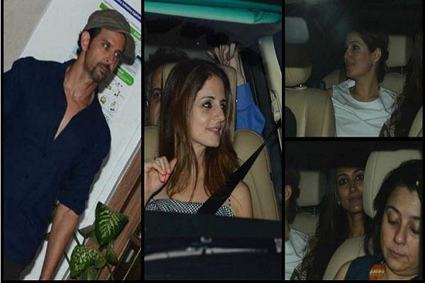 hrithik enjoying party with x wife