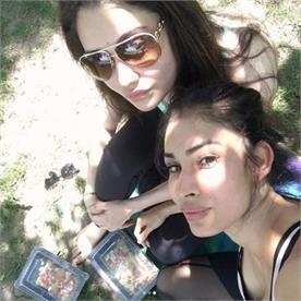 tv actress mouni roy enjoying holiday with her friends