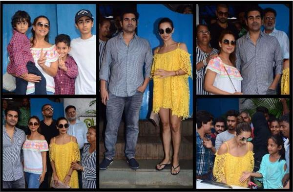 malaika came to make a family lunch with arbaaz after divorce