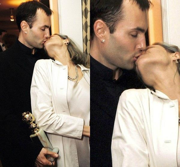 when angelina jolie did lip lock with brother
