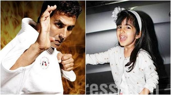 akshay did video shares with mischief with daughter