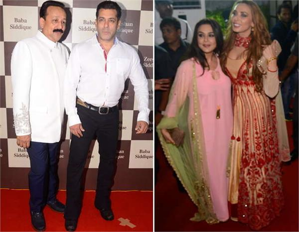 salman khan and his girlfriend spotted party by baba siddiqui