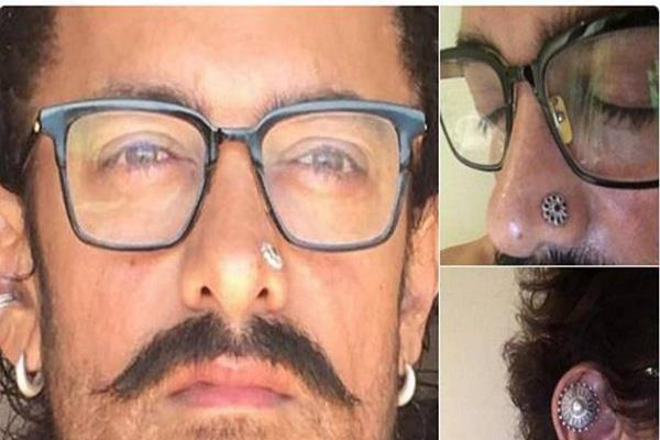 aamir khan pierced ear nose for thugs of hindostan