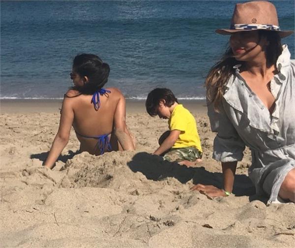 suhana in bikini at malibu beach