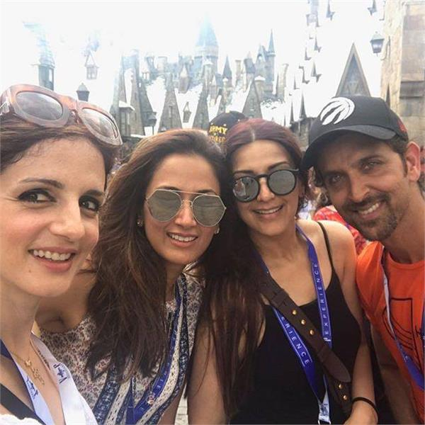 hrithik is holiday with the x wife and children