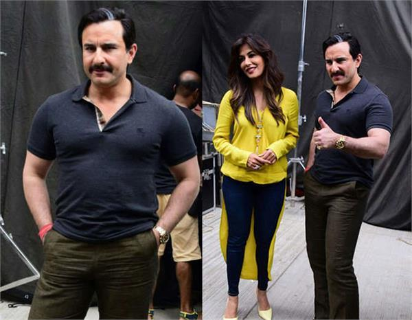 saif ali khan  seen with chitrangada  in different look