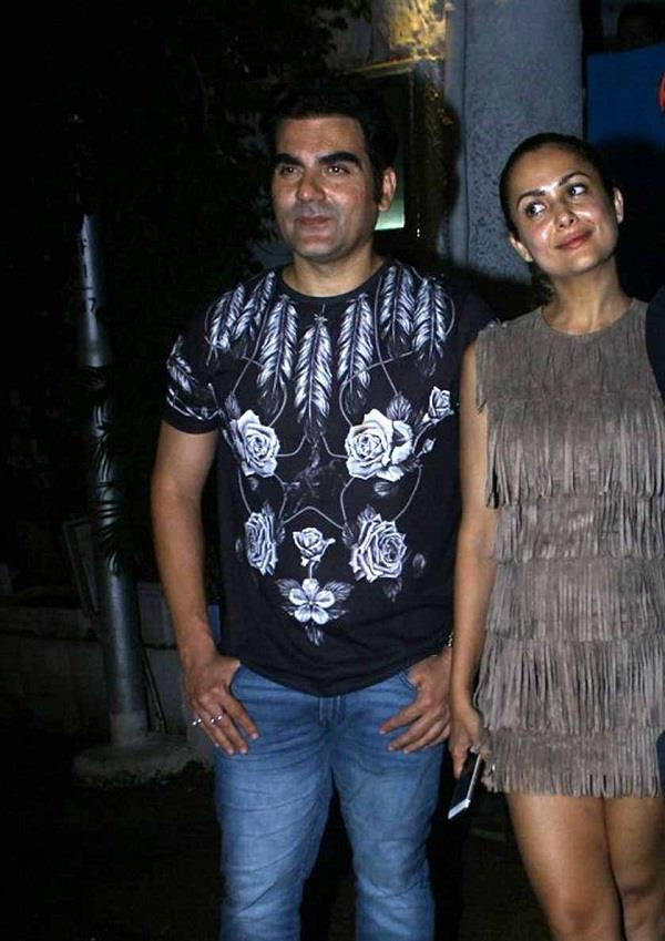 arbaaz amrita shakeel snapped post dinner
