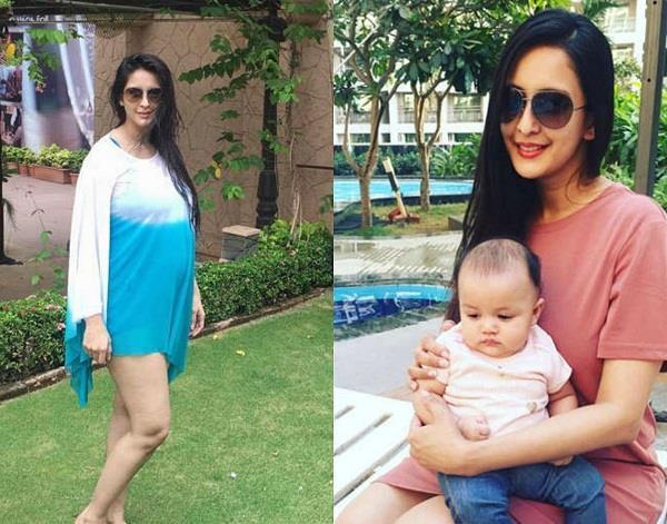 chahat khanna flaunts baby bump
