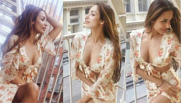 malaika arora looks hot in floral dress