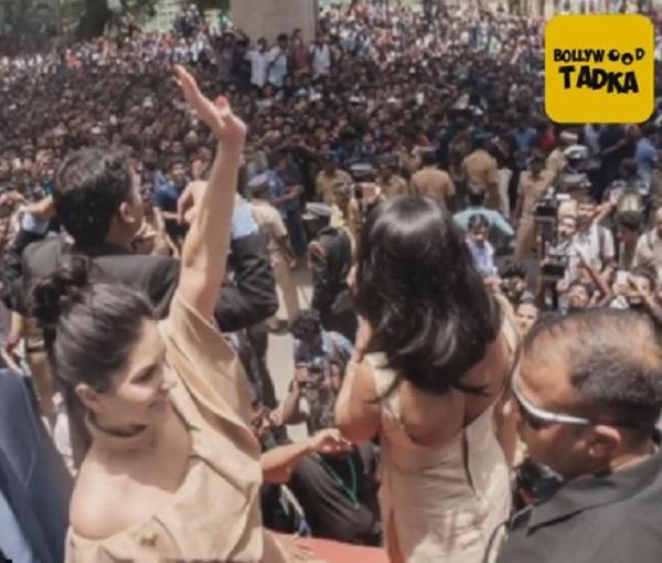 which bollywood actress gets grand welcome with huge fan following ever