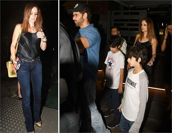 hrithik roshan spotted with ex wife