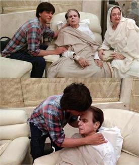 बीमार दिलीप कुमार को देखने पहुंचे उनके मुंह बोले बेटे, सामने आईं दिल छू लेने वाली तस्वीरें