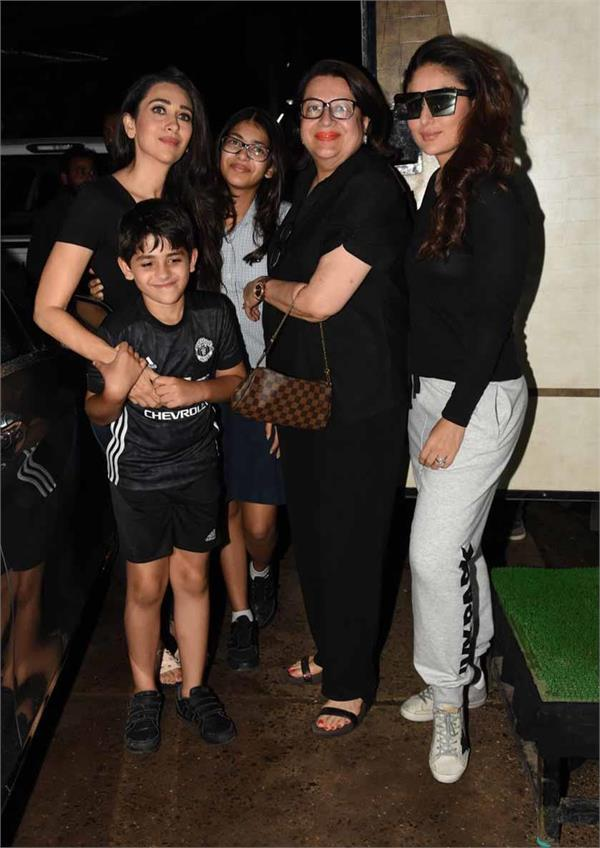 kareena and karisma shoot with mother babita