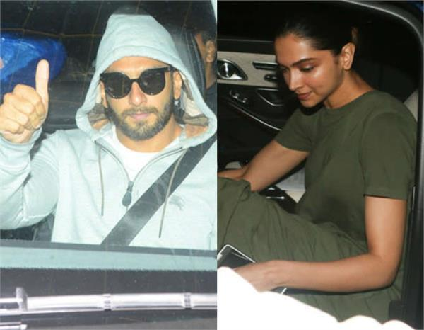 deepika ranvir spotted together in mumbai